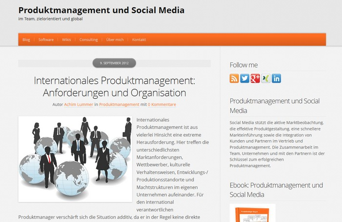 Produktmanager-Blog